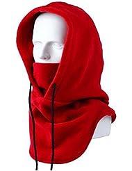 elandy espesante forro polar resistente al viento pasamontañas máscara de deportes al aire libre de la motocicleta de Equitación, rojo