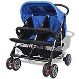 Festnight- Klappbar Zwillingswagen Baby Zwillingskinderwagen Kinderwagen 93 x 68 x 103 cm Geeignet für 1-2 Kinder bis zu jeweils 15kg