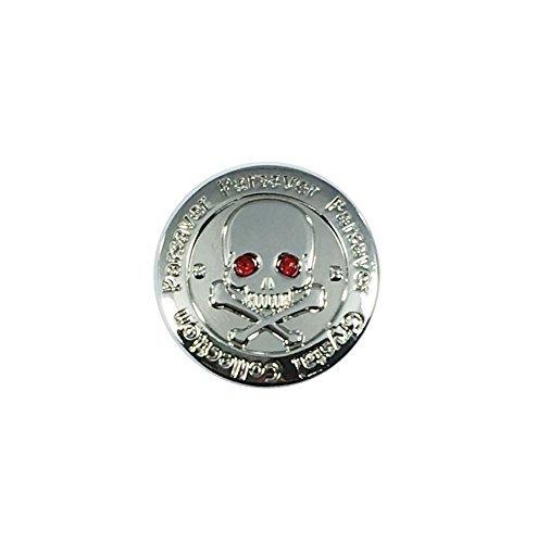 Parsaver Swarovski Kristallwelten Golf Ball-Marker - mit Hut Gürtel-Clip - Schädel und Knochen Augen - unvergleichliche Brillanz und Glanz auf den Grüns. Eine wunderbare Golf Geschenk rot - Ball Mit Marker Golf-hut