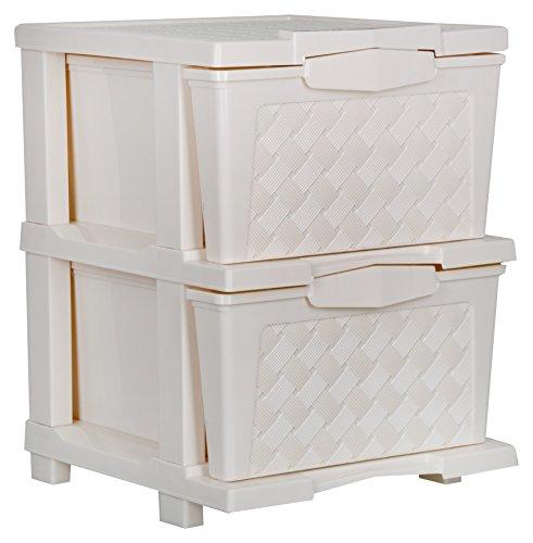 Joyful Cargo Plastic Multipurpose Drawer (35 cm x 28 cm x 60 cm, Beige)