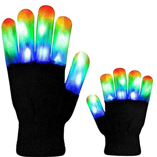 LED Glow Handschuhe Stage Performance Kostüm Requisiten Partei-Licht-Up Handschuhe Weihnachtskostüm Glow Toys Supplies