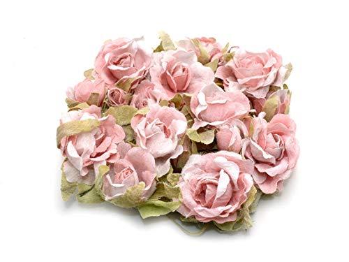 Vintageparts Rosengirlande in Hellrosa 1 Stück zum Schmuck selber basteln - Der Kunst Der Rosenkranz In