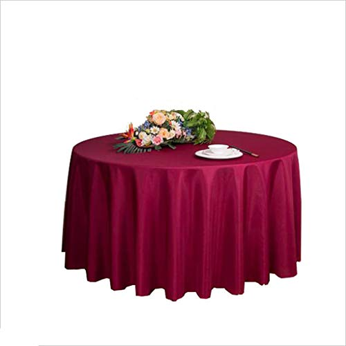 MAL Präsident Casual Dining Tablecloth, Hotel Tischdecke Weiße Runde Tischdecke (größe : 320 cm)
