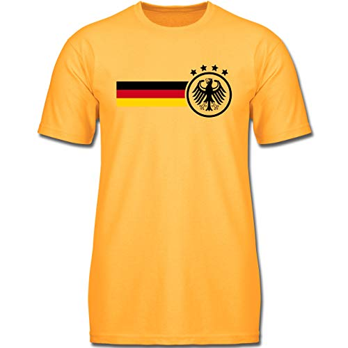 Fußball-Europameisterschaft 2020 Kinder - Deutschland Fan-Shirt - 128 (7-8 Jahre) - Gelb - F130K - Jungen Kinder T-Shirt -