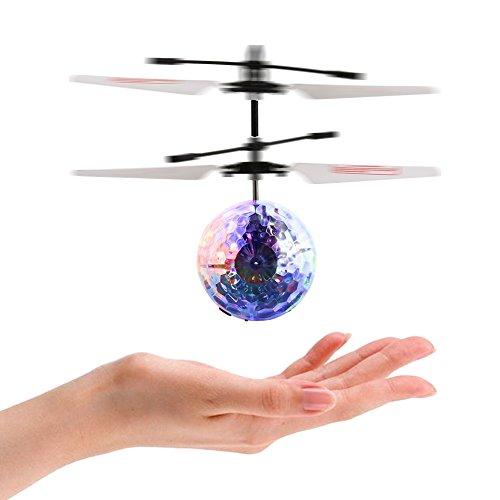 Acefun RC fliegender Ball, Infrarot Induktion Hubschrauber-Ball mit LED Shinning blinkende Beleuchtung für Kinder und Jugendliche