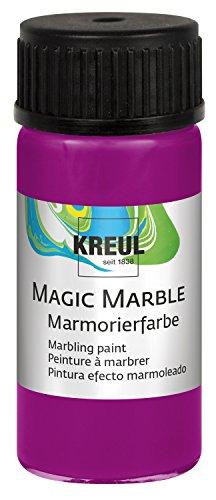KREUL 73208 Magic Marble Marmorierfarbe, 20 ml, magenta Magenta Magic