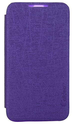 iCandy™ Soft TPU Non Slip Back Shell PU Leather Hybrid Flip Cover For HTC Desire 516 - PURPLE  available at amazon for Rs.139