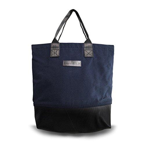Rubber Killer Tote Bag Tasche Meena L aus recycelten Truck Innenschläuchen, Upcycling (Navy) -