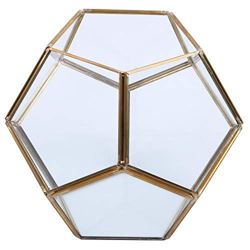 Nrpfell Glas Geometrische Terrarium Container Fensterbank Decor Blumentopf Balkon Pflanzer DIY Display Kasten (Keine Pflanze) -
