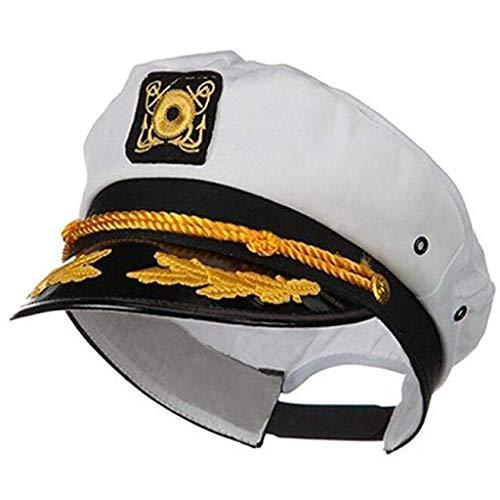 Sailor Einfach Kostüm Männer - AmaSells Kapitäns Yacht Sailor Cap Einstellbare Sea Hat Navy Bekleidungszubehör für Männer Frauen Kostüm gefallen