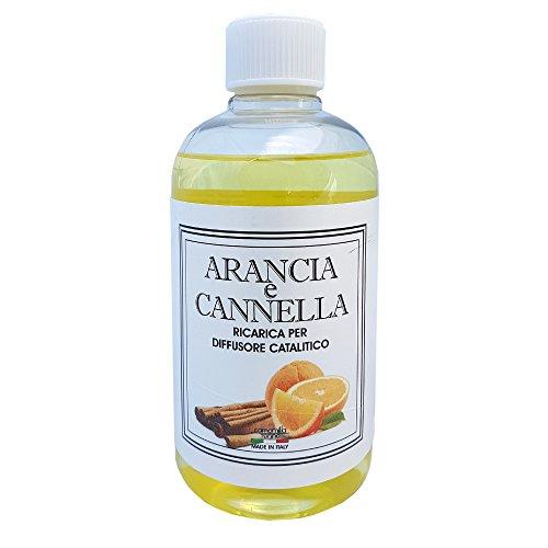 Ricarica Diffusore di profumo per lampada catalitica 500 ml. Arancia e Cannella