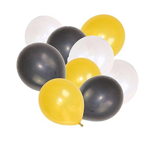 Poseca 12-Zoll-Weihnachtsdekoration Ballon Party Balloon Set Graduation Theme Party Silber Latex Party Ballons für Hochzeit Geburtstag Abschluss Party Supplies Dekoration