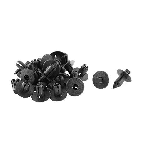 Preisvergleich Produktbild sourcingmap 20Stk 18*8mm Schwarz Nieten Motor Verkleidung Zierleisten Panel Befestigung Klips
