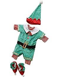 B Baosity Traje de Navidad Santa de Elfos Disfraces Regalo de Cumpleaños Fiesta Decorativas
