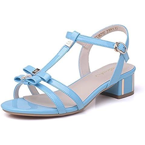 Lady bow greggi sandali/Donna Xia Zhong con versatile open toe