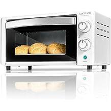 Cecotec Horno eléctrico multifunción de sobremesa. 10 litros de capacidad y puerta con doble cristal. Resistencias halógenas. Bake&Toast 490