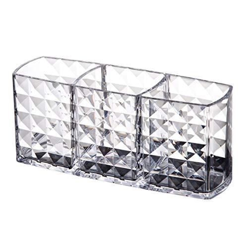 Monlladek Zwei-Schicht-Acryl tragbare runde Container Aufbewahrungsbox Fall Make-up Veranstalter Wattepad Box Kosmetik Tupfer Q-Tip-Halter -