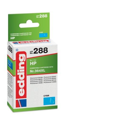 Preisvergleich Produktbild edding 18-288 Druckerpatrone EDD-288, Ersetzt: HP Nummer 364XL (CB323EE),Einzelpatrone, cyan