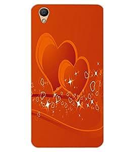 ColourCraft Love Hearts Design Back Case Cover for OPPO R9