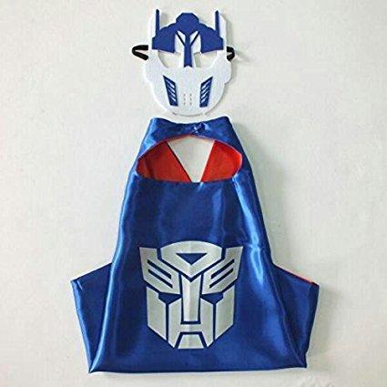 Superheld Kostüme Masken Capes Satin Boys Kostüm Maske Kap Satin Transformatoren (Transformers - 4er (Einfach Selbst Gemacht Kostüme)