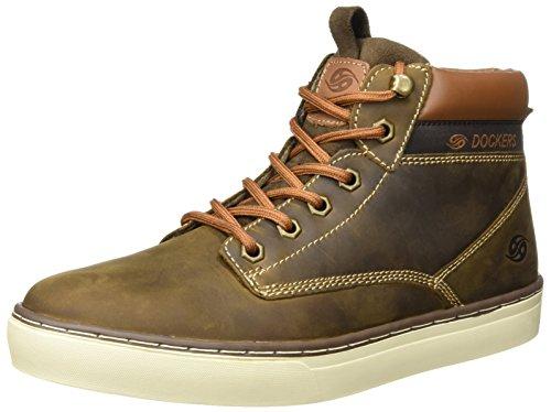 Dockers by Gerli 33ec010-400320, Sneaker a Collo Alto Uomo Marrone (Cafe)
