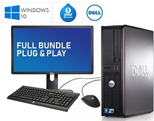 Dell Komplettes Desktop-Set 22 Zoll LCD-Monitor und schneller 780 Core 2 Quad 4 GB 1000 GB 1 TB Desktop-PC Computer Windows 10 64 Bit