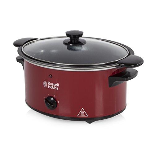 Russell Hobbs 22741Sear & Stew Slow Cooker, Crockpot, olla de cocción lenta 3,5L Rojo