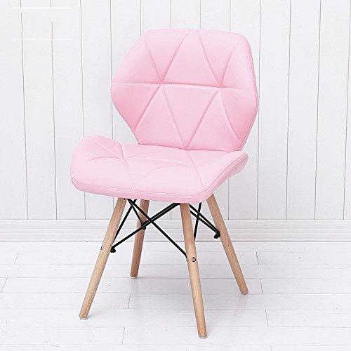 G-Y Faules Sofa, Einfache Moderne Computer-Stühle, Bürostühle Aus Massivem Holz, Essecke ( Farbe : Pink )