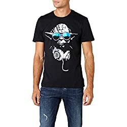 Star Wars DJ Yoda Cool T- T-shirt, Noir, Small (Taille fabricant: S) Homme
