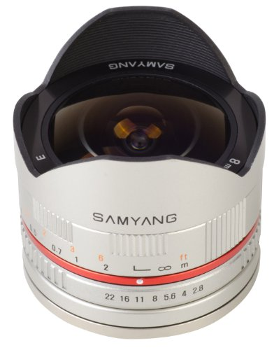 Top Samyang 8 mm Fisheye F2.8 Manual Focus Lens for Samsung NX – Silver on Amazon
