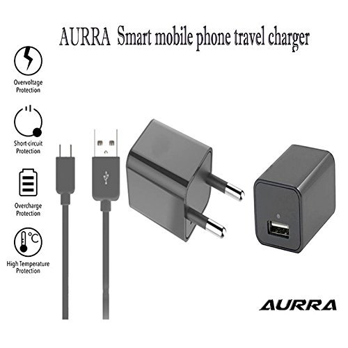 Nokia 515 Dual SIM Supported 1.2Amp Mobile Charging Adapter & Charging & Sync Cable for All Android Phones,By Aurra  available at amazon for Rs.339