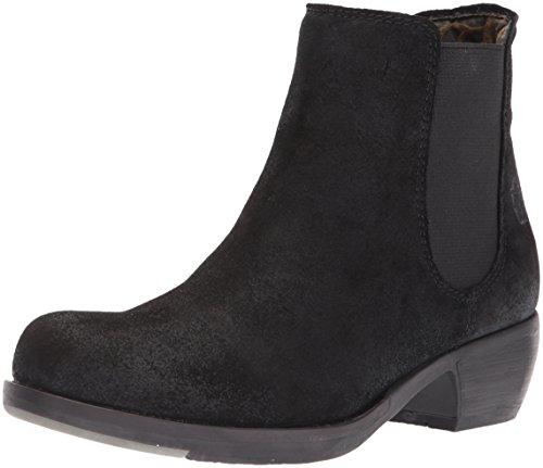 FLY London Damen MAKE Chelsea Boots, Schwarz (Black 030), 38 EU