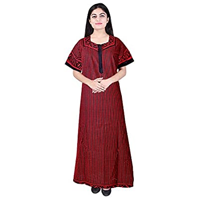 Mudrika Women Cotton Nighty, Gown, Sleepwear, Nightwear, Maxi - Soft and Stylish Night Suit, Cotton (Pack of 2 Pcs)