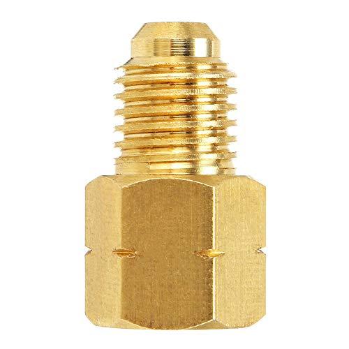 Anddod R1234YF Messingschlauch für R134a Vakuumpumpumpe Adapter Fitting 1/2