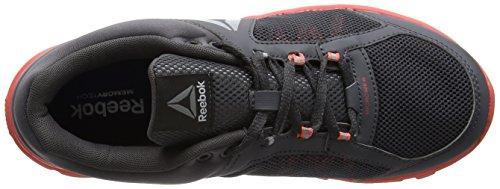 Reebok Bd4823, Chaussures de sport femme Gris (Ash Grey/fire Coral/white/silver Met/grey/black)