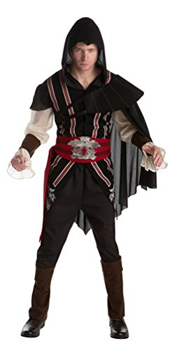Größe Creed Kind Kostüm Assassins - Karneval-Klamotten Assassins Creed Kostüm Herren Ezio Herr Karneval Fasching Herrenkostüm Größe 50/52