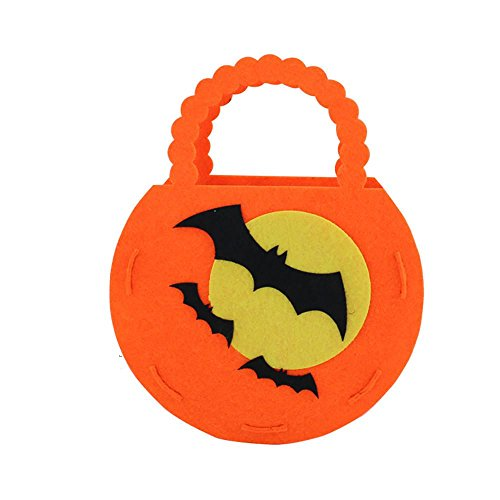 sunnymi Art und Weise Halloween-nichtgewebter Kürbis-Beutel/DIY Kinder Süßigkeit-Beutel-Kinder/Einzigartige Bequemlichkeit (Dekor Hof Halloween)