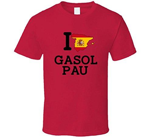 Pau Shirt Gasol (I Love Gasol Pau Spain Basketball Olympics T Shirt XLarge)