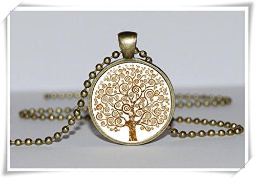 Gold Anhänger Baum des Lebens, Baum des Lebens Halskette, Baum des Lebens Schmuck, Baum des Lebens Charme, Art Anhänger (Baum Des Lebens Charme)