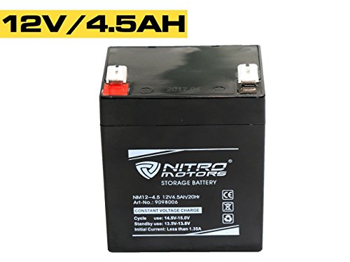 Nitro Motors Blei Gel Akku 12V 4,5Ah/ 20Hr NM12-4.5 Batterie Kinderauto Quad Atv