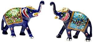 Little India Enamel Work Elephant (Set of 2, HCF133)