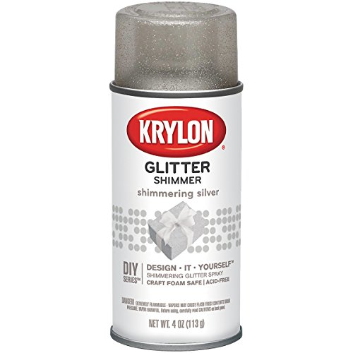 Krylon Spry Plata Pto el brillo de plata