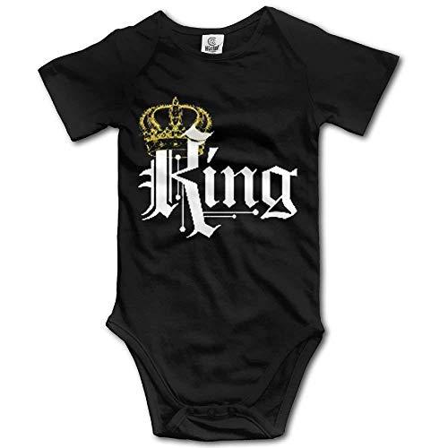 Babybekleidung Jungen Mädchen T-Shirts, Liamjenk Baby Onesie Girl Boy Outfit Baby Bodysuit Jumpsuit Creeper Short Sleeve King with Crown (Kings Crown Kostüm)