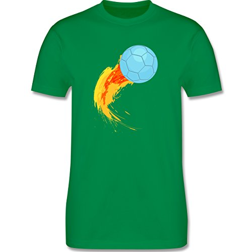 Handball - Burning ball - Herren Premium T-Shirt Grün
