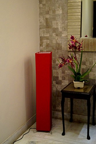 Tu Casa L-1014 Square 220-Watt Floor Lamp (Red)