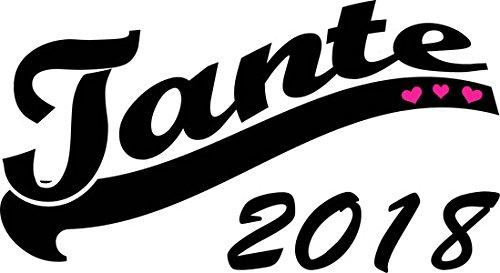 Mister Merchandise Herren Men V-Ausschnitt T-Shirt Tante 2018 Tee Shirt Neck bedruckt Schwarz