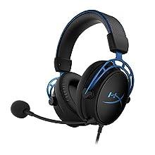 HyperX HX-HSCAS-BL/WW Cloud Alpha S, Cuffie Gaming con Virtual 7.1 Surround Sound HyperX e Bassi Regolabili