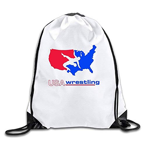 WENZXC Logon 8 US Wrestling Logo Cool Drawstring Bags One Size
