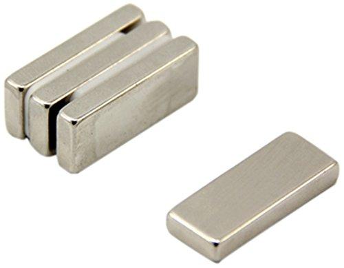 First4magnets F25104-4 Dicker N42-Neodym-Magnet-5,4kg Anziehungskraft (4 St-Packung), 25 x 10 x 4mm thick, 4 Stück -