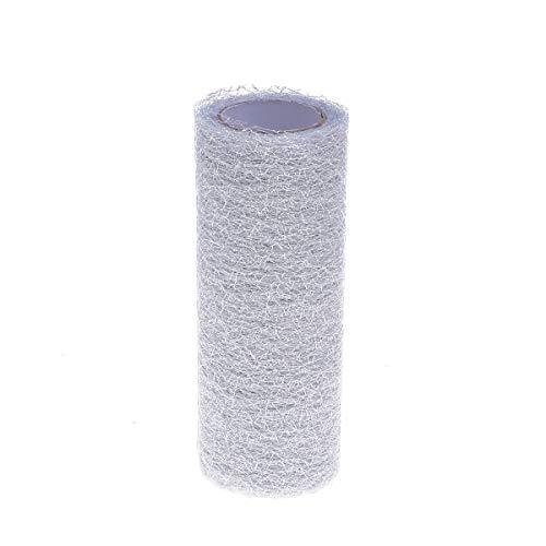 nspule Tüll Stoff Rolle für Hochzeit Tisch Tutu Kleid Rock Dekorationen 15 cm 10 Yards (Silber) ()